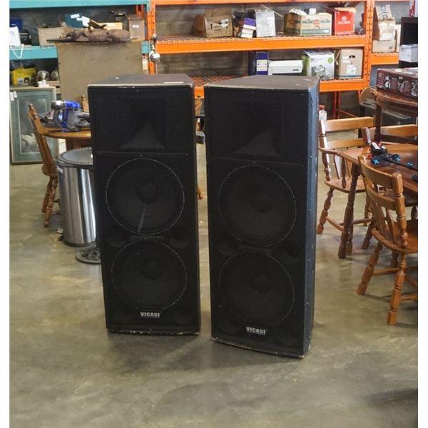 """Pair Vicasi Professional 52"""" loudspeakers 600W-1000W"""