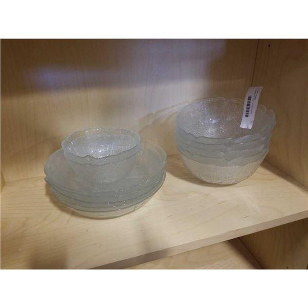 LUMINARC LEAF GLASS DISHES