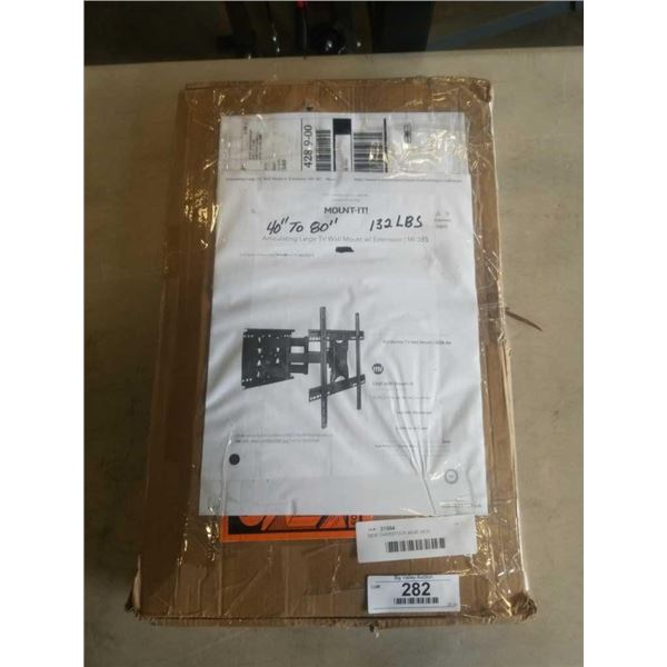 NEW OVERSTOCK 40-80 INCH ARTICULATING LARGE TV WALLMOUNT WITH EXTENTION 132 LB CAPACITY