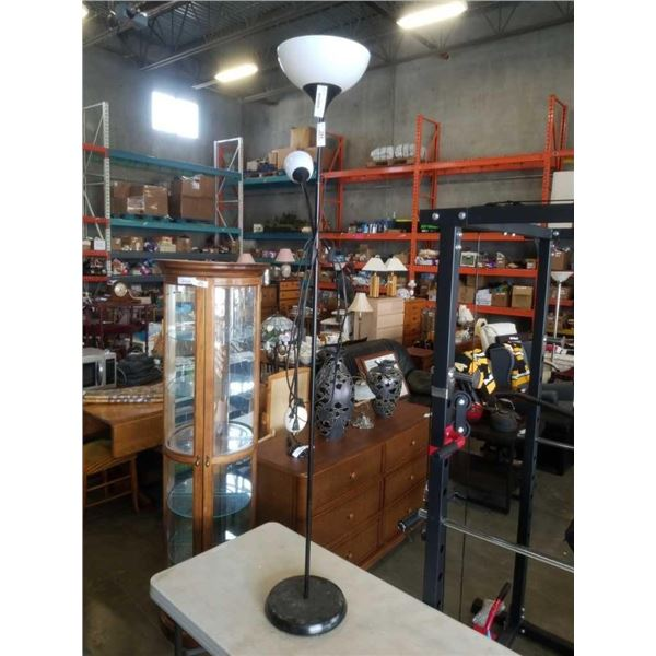 Floor lamp with reading lamp