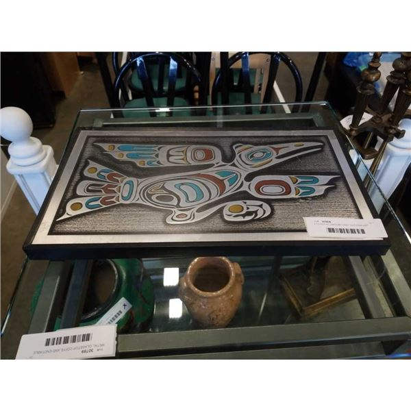 ETCHED ALUMINUM FIRST NATIONS ART