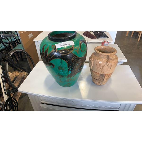Stone vase and ceramic vase