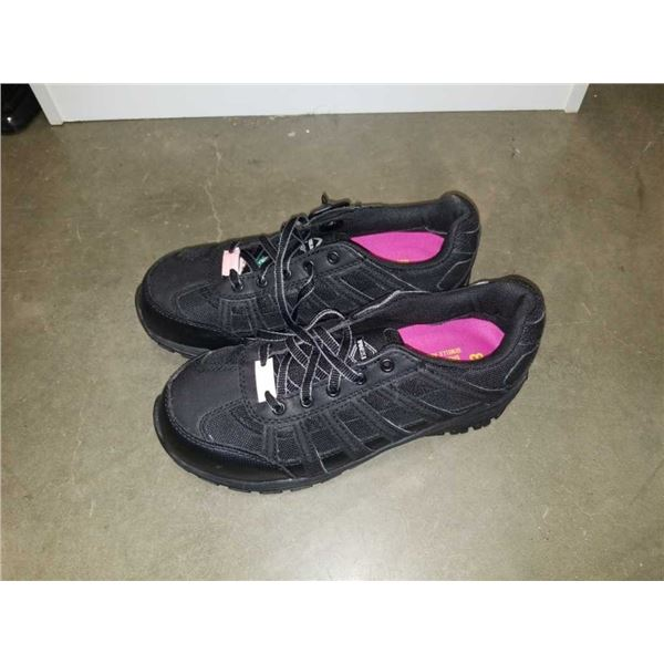 As new workload size 8 shock-absorbing steel-toed work shoes