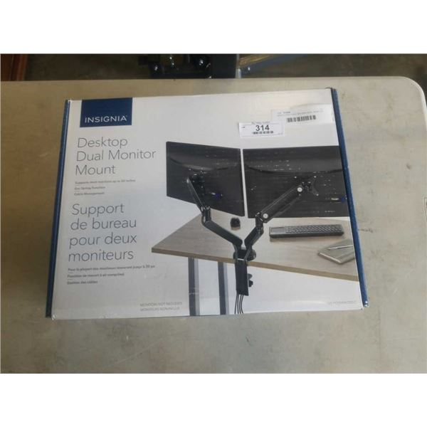 NEW OVERSTOCK INSIGNIA DUAL DESKTOP MONITOR MOUNT - UP TO 30 INCHES