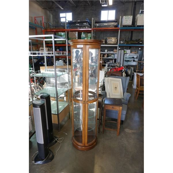 BOWED GLASS DISPLAY CABINET