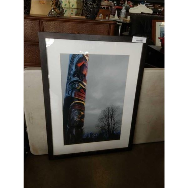 FIRST NATIONS TOTEM POLE PRINT