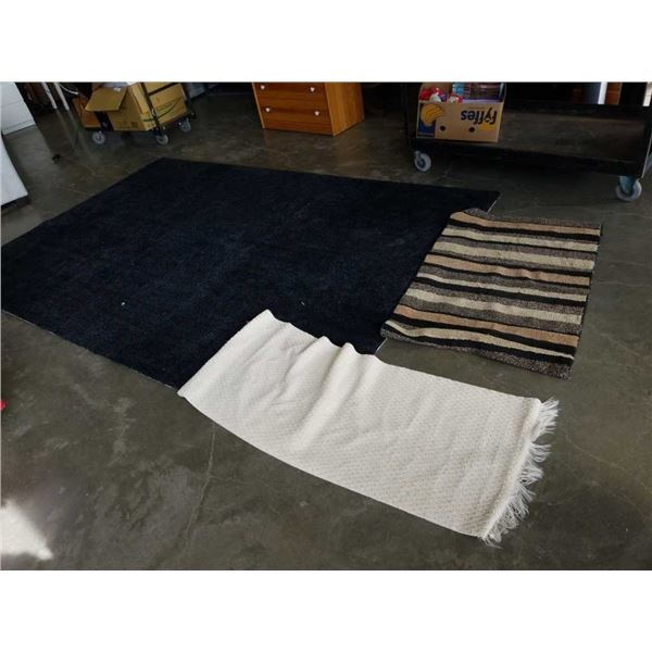 6 ft ikea area carpet and 2 runners