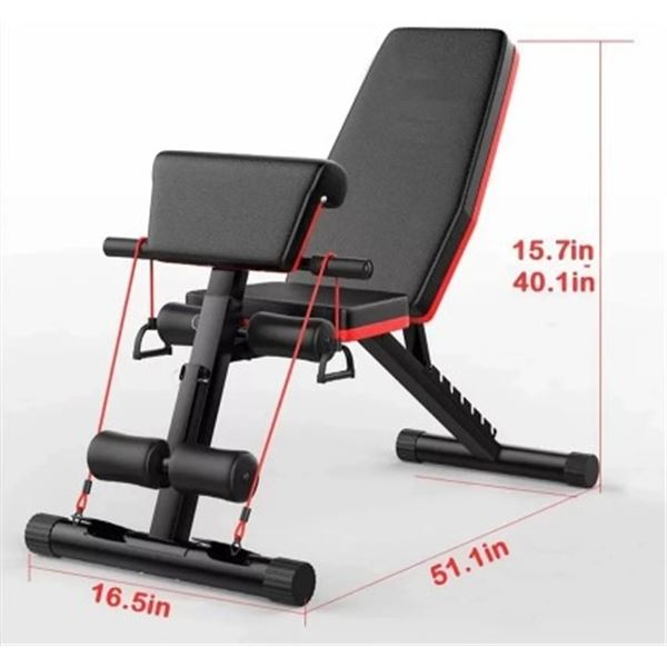 BRAND NEW PREACHER CURL BENCH W/ RESISTANT BANDS - RETAIL $399