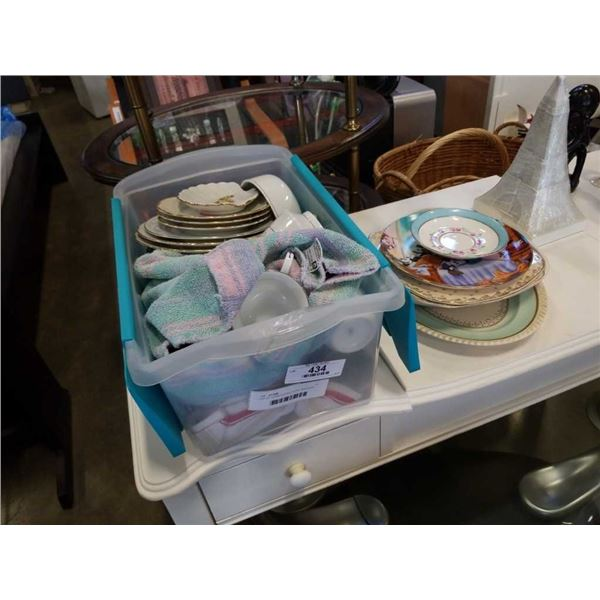 LOT OF CHINA PLATES, CUPS, SAUCERS