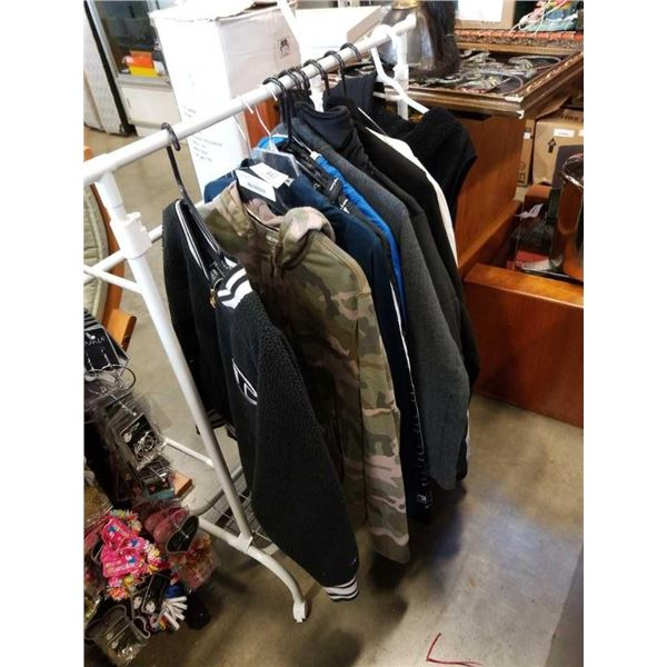 10 various hoodies and jackets