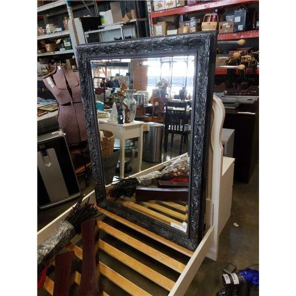 "36""x48"" framed bevelled mirror"
