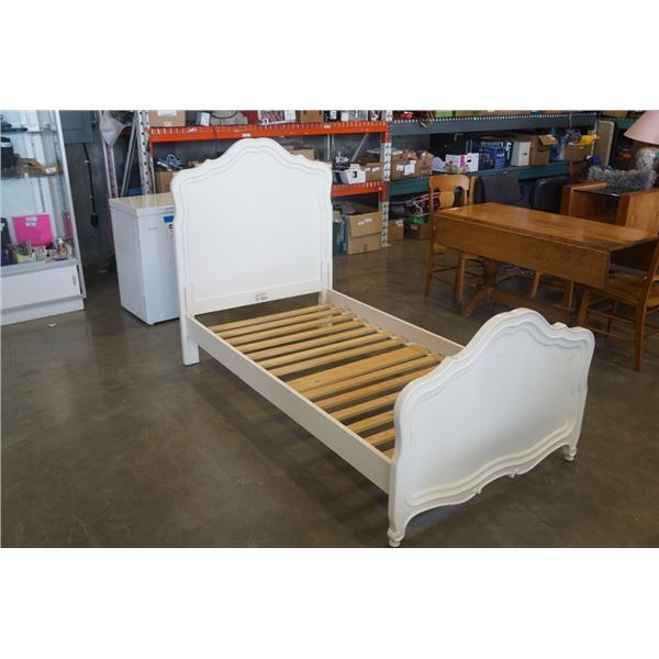 WHITE SINGLE SIZE STANLEY BED FRAME