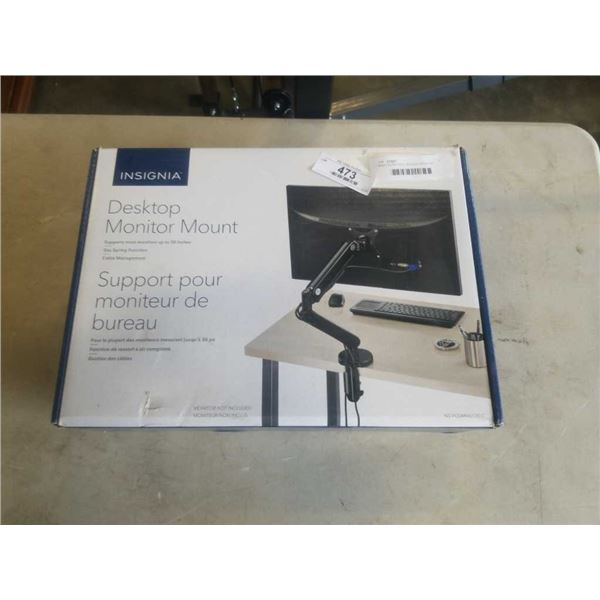 NEW OVERSTOCK INSIGNIA DESKTOP MONITOR MOUNT - UP TO 30 INCHES