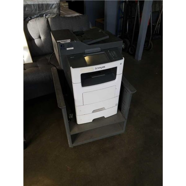 LEXMARK XM3150 PRINT W/ 2 PAPER TRAYS AND STAND - TESTED AND WORKING