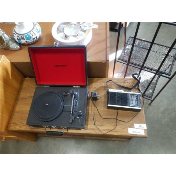 CONCERTO RADIO AND CASED RECORD PLAYER