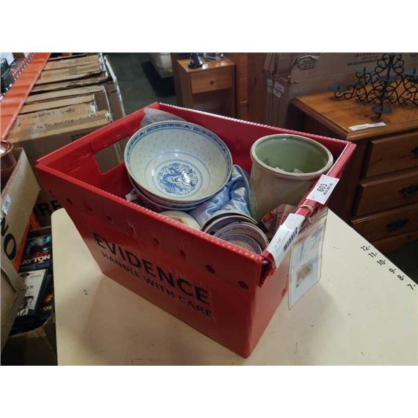 BOX OF EASTERN DISHES