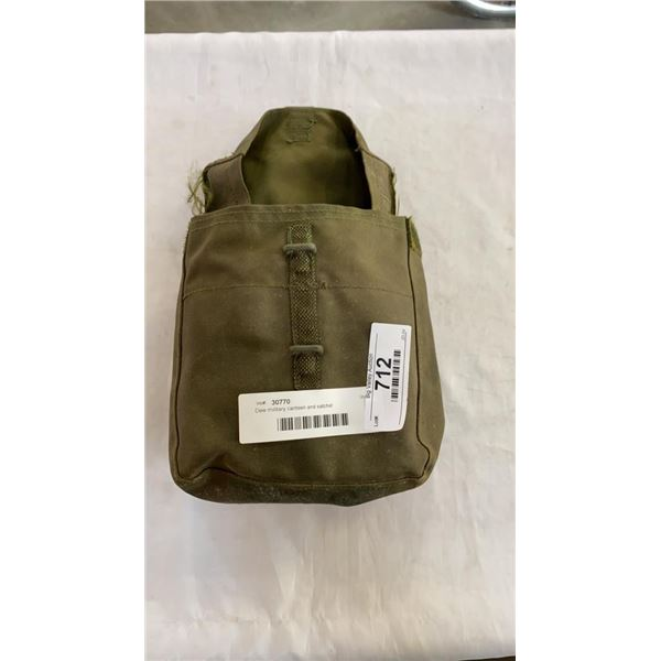 Dew military canteen and satchel