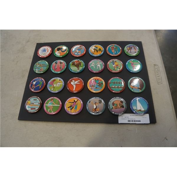 Collection of 1984 olympic pins