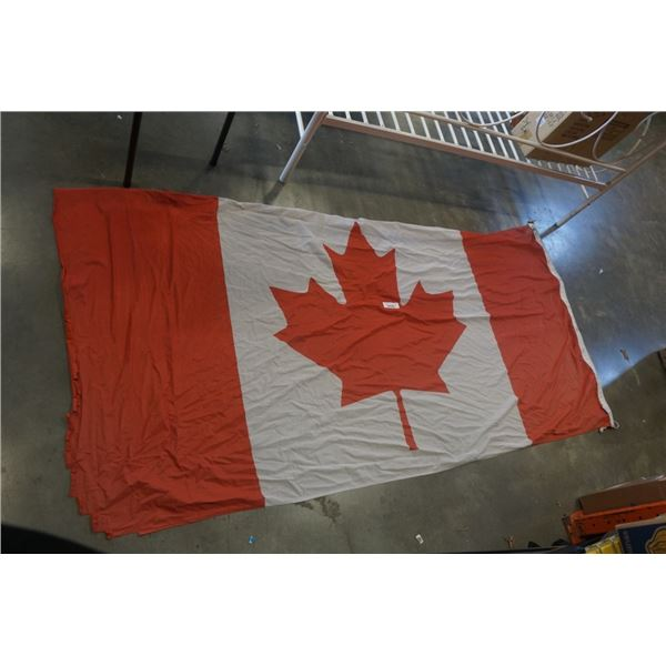 FULL SIZE CANADA AND BRITISH COLUMBIA FLAGS