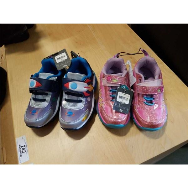 As New boys size 11 shoes and new girls size 10 shoes