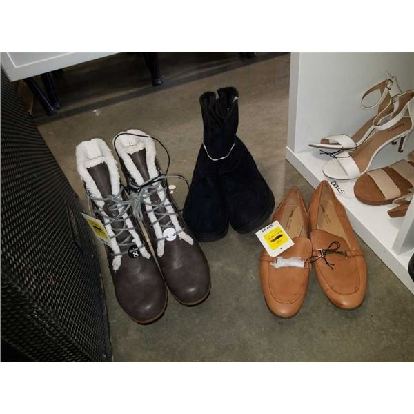 As New ladies size 8 3M thinsulate boots, loafers and calf boots