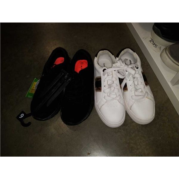 Two pairs of as new size 6 comfort shoes