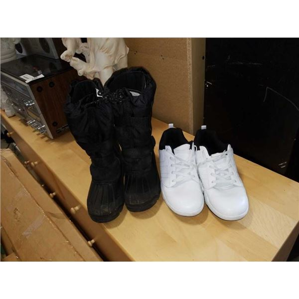 As New size 8 insulated boots and new size 11 the athletic shoes