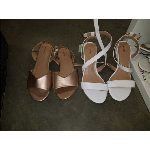 As New ladies size 10 heels and sandals
