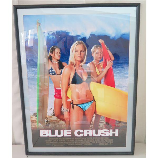 """Framed """"Blue Crush"""" Movie Poster, 31"""" x 42"""""""