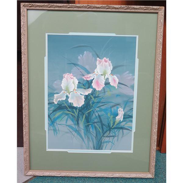 """Framed David Lee Print - Orchids 32"""" x 25.5"""""""