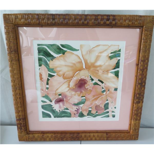 """Framed Original Watercolor by Russell Lowery, Signed, 17""""x17"""" (Frame 27""""x 27"""")"""