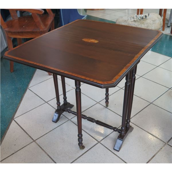 """Vintage Wooden Folding Game Table 29.5"""" x 24"""" 25"""""""