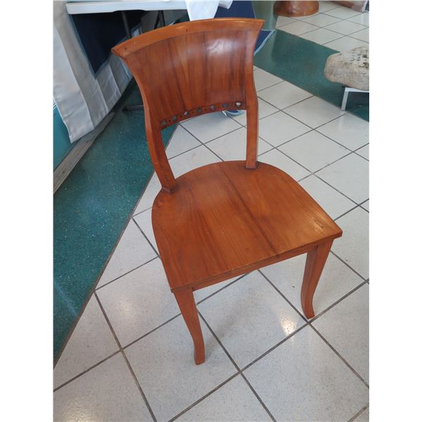 "Woden Barrel-Back Chair, 36"" Back Height"