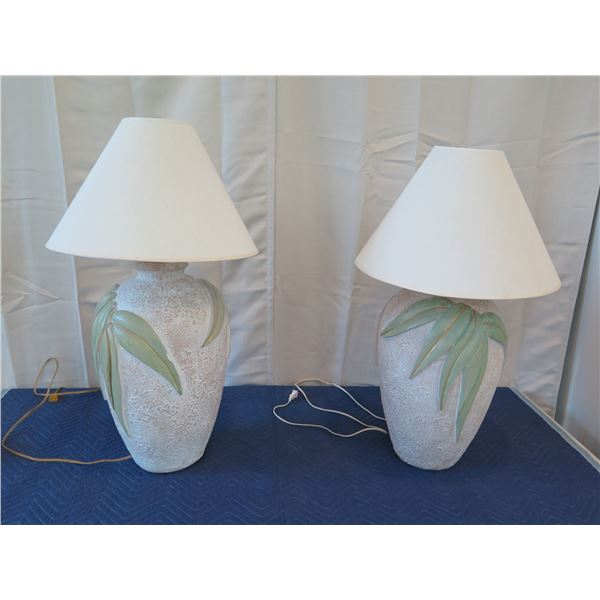 """Pair of Lamps w/ Lampshades 33"""" Tall"""