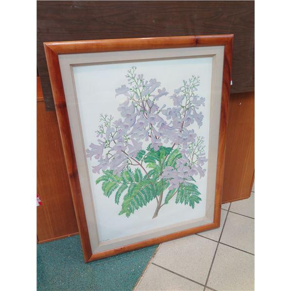 "Large Lloyd Sexton Print, Jacaranda, 33"" x 44"""
