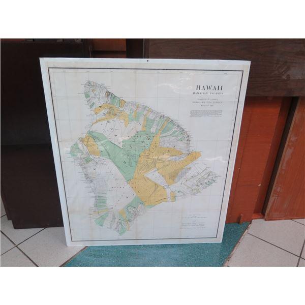 Hawaii Island Ahupuaa Map 1901 (poster board not included)