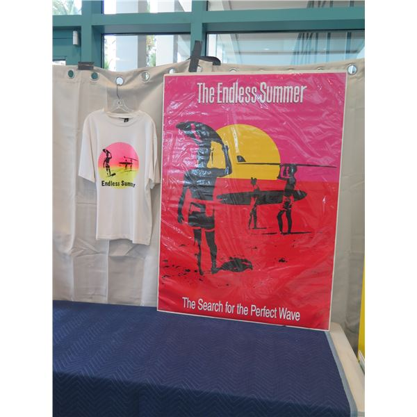 """Very Large Movie """"Endless Summer"""" Poster & T-Shirt Memorabilia 39"""" x 55"""""""