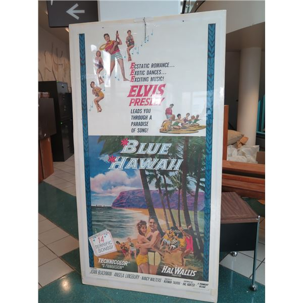 """Very Large 1961 Blue Hawaii 3-Sheet Poster on Linen Backing 84"""" x 46"""""""