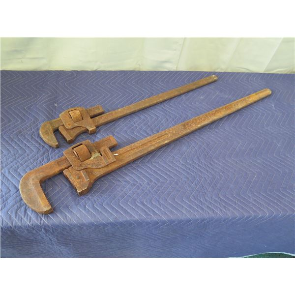 2 Large Vintage Wrenches