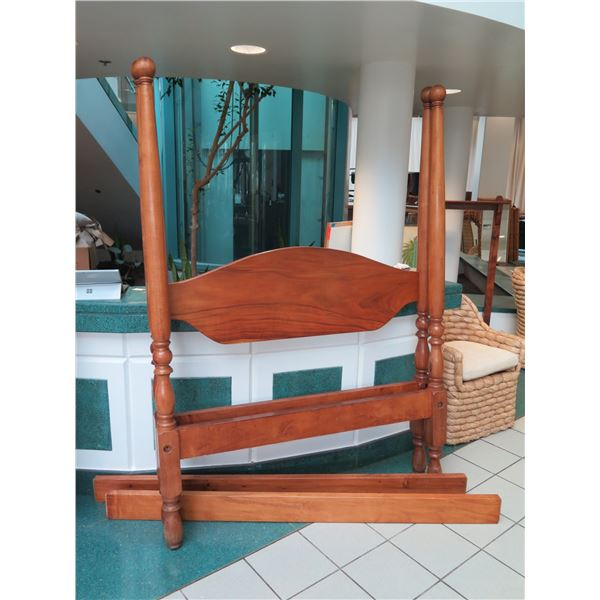 Four-Poster Koa Bed, 19th Century, Purportedly Queen Emma's Bed (based on oral history from Iolani P