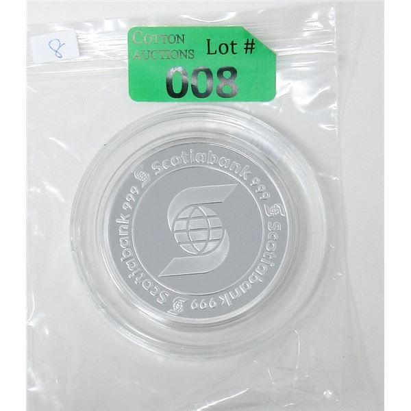5 Oz. .999 Fine Silver Scotia Bank Round