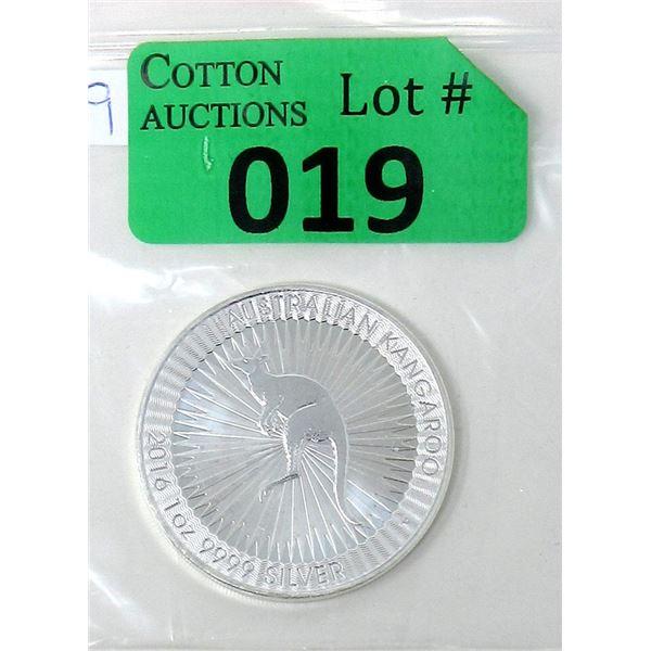 .9999 Fine Silver 2016 Australian Kangaroo Coin