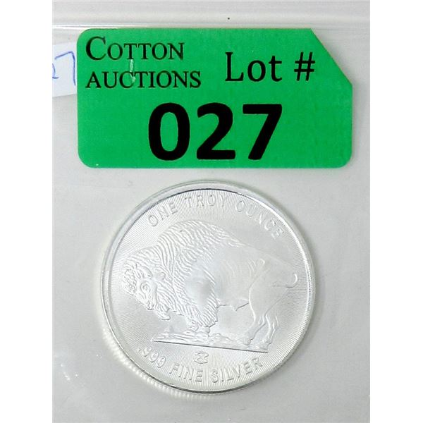 1 Oz. .999 Silver Liberty Silver Buffalo Round