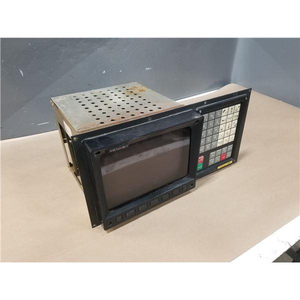 FANUC A61L-0001-0092 LCD MONITOR W/ FANUC A02B-0073-C101 OPERATOR PANEL
