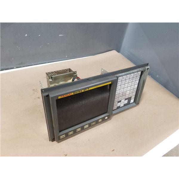 FANUC A02B-0210-C041/TA (SERIES 21-T) MONITOR & 0PERATOR PANEL