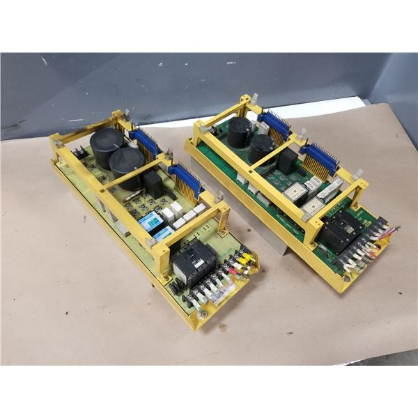 (2) FANUC A06B-6058-H005 SERVO AMPLIFIER (CRACKED/DAMAGED HOUSING) *SEE PICS FOR DETAILS*