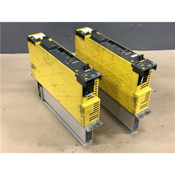 (2) FANUC A06B-6124-H105, A06B-6127-H105 SERVO AMPLIFIER MODULE