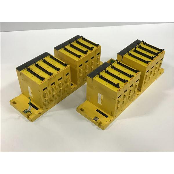 LOT OF  FANUC A03B-0807-C001 MODULE RACK W/ MODULES