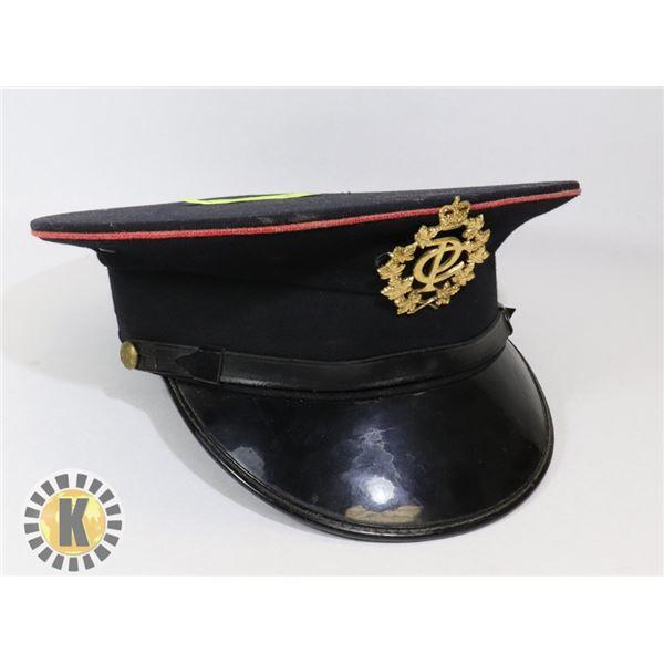 VINTAGE CANADIAN POST CAP WITH RARE CAP BADGE