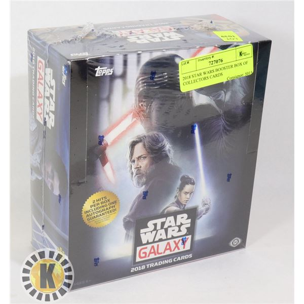 2018 STAR WARS BOOSTER BOX OF COLLECTORS CARDS